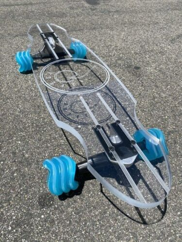 "GHOST LONGBOARD - SURF AND SUN (30"") w/ 72MM Clear w/ Mint Hub wheels DNA"