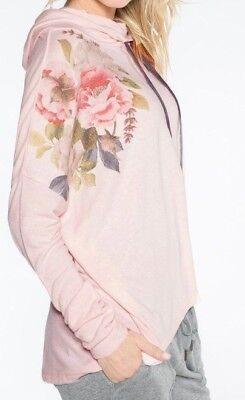 NWT PJ Salvage BLUSH PINK Floral Loose Cowl Sweater-Knit Pajama/Lounge Top XL