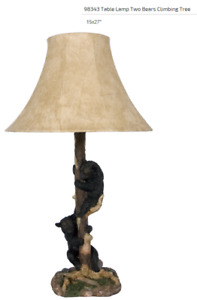 Table Lamp - 2 Bears climbing Tree