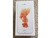 IPHONE 6s 128GB ROSE GOLD (O2 UNLOCKED) NEW AND SEALED