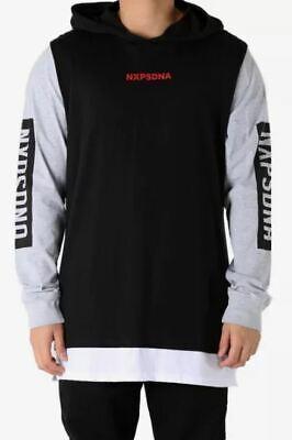 Nena & Pasadena NXPSDNA Men M Hoodie Tee T-Shirt Black Gray White NXP Sweater (Pasadena T)