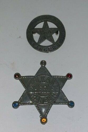 TEXAS RANGERS & SHERIFF TEXAS RANGER,Metal Police Badges (Novelty Fantasy Badge)