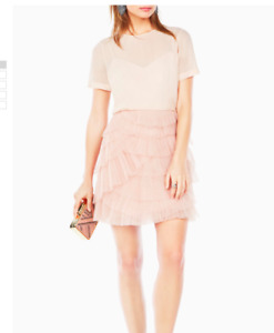 BCBG Blush Pink Tulle Dress - with tags