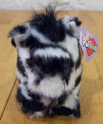 """Puffkins ZACK THE ZEBRA 4"""" Plush Stuffed Animal NEW"""