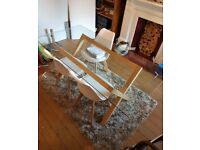 Glass top Dining Table - from Habitat
