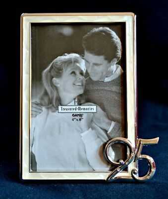 25th Wedding Anniversary Photo Frame NEW Boxed Picture GIFT Treasured Memories