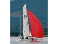 ISO Sailing Dinghy incl combi trailer and spinnaker