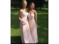 Mori Lee Bridesmaid Dress 682 - Ivory/Blush Size 16