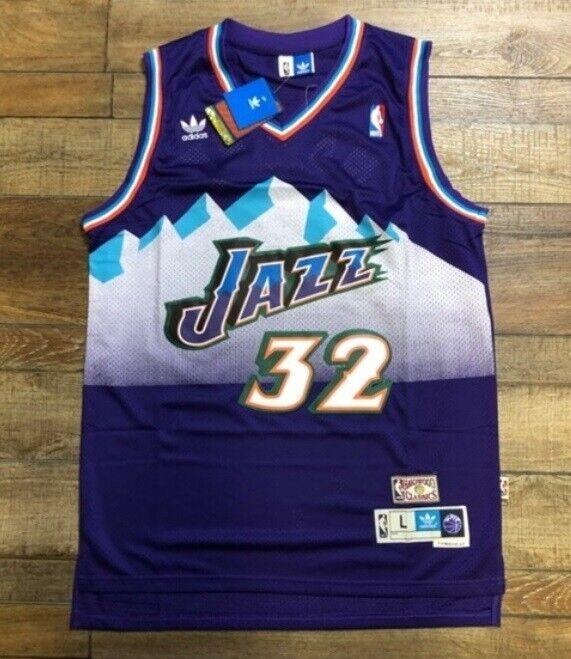 Karl Malone Utah Jazz Vintage Season NBA Legend Retro Basketball Trikot