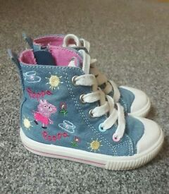 Infant size 5 next peppa pig high tops
