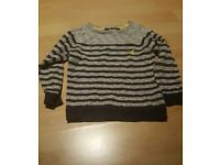 Boys striped jumper age 4/5 years