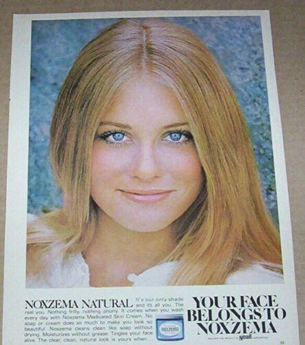 1970 print ad - CYBILL SHEPHERD - beauty Noxzema skin cream Advertising page
