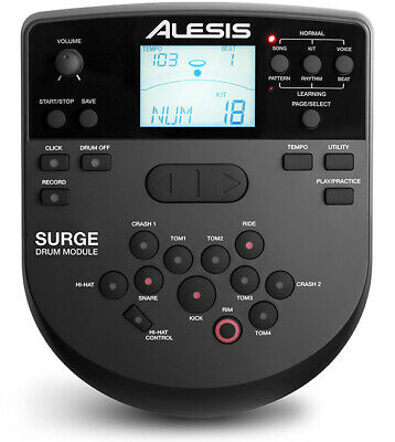 *NEW* Alesis SURGE Drum Module - w Cable Snake Harness and Power Adapter-Machine