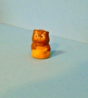 1988 Hallmark Halloween Merry Miniature Owl With Trick Or Treat Bag