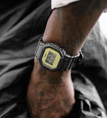 Watch Casio Dw 5600 Men's G Shock Vintage Digital Alarm Chronograph Gold Led