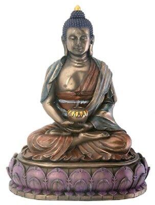 NEW! Amitabha Buddha Statue Figurine Bronze Finish Eastern Tibetan Gift 7818 Buddha Bronze Finish