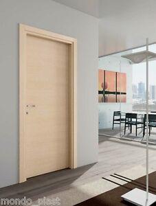 Porta battente da interno laminato telaio e mostre piatte - Porta finestra misure ...
