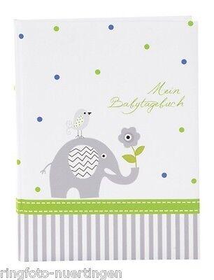 ch Baby Album Fotoalbum Elefant blau Baby Tagebuch (Blaues Baby-elefant)