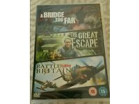 3 MOVIE DVD A BRIDGE TOO FAR THE GREAT ESCAPE BATTLE OF BRITAIN