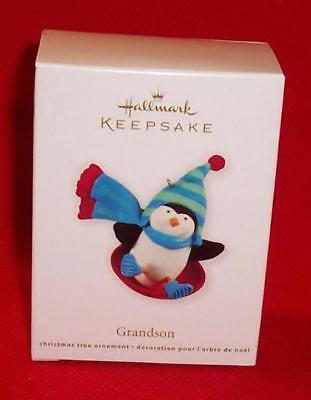 Hallmark 2011 GRANDSON Christmas Penguin Ornament MINT - Christmas Penguin