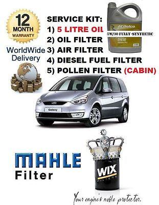 pour FORD GALAXY 1.8 2006- > 5 LITRES HUILE & Air CARBURANT Filtre à Pollen