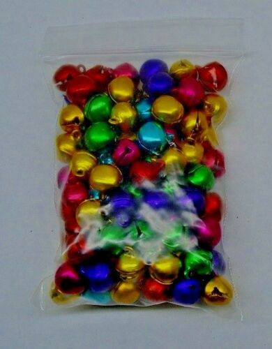 BULK LOT 1500 CHRISTMAS JINGLE BELLS Bright COLORS 10mm -12mm NICE ! Drops Beads
