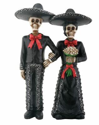 Skeleton Mariachi Couple Day Of The Dead Dia De Los Muertos Figurine