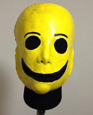 Freaky Yellow Smiley Face mask Clown Halloween jason freddy Creepy](Halloween Smiley Mask)