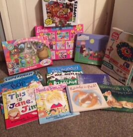 Job Lot of Children's Jigsaws and Books