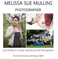 Portrait photography - Packages starting at $60