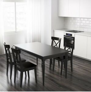 Extended Dining Table & 4 Sets