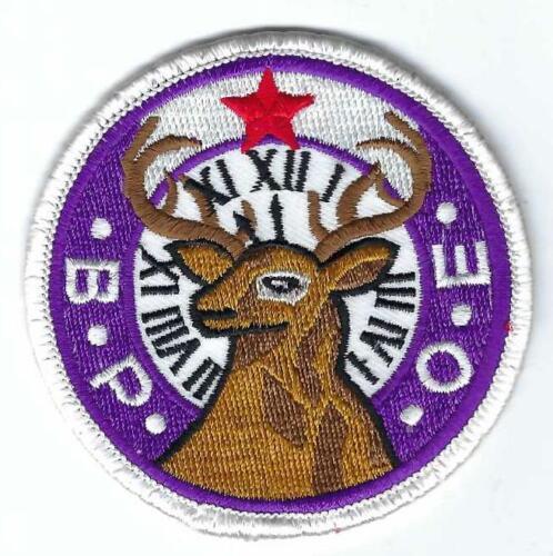 Vintage BPOE Logo Patch B.P.O.E. Benevolent and Protective Order of Elks Social