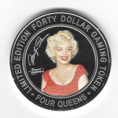 Monroe Four - MARILYN MONROE 2019 FOUR QUEENS $40 Silver Strike Yellow Cap Las Vegas
