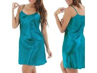 Lingerie Women's Ladies Silk Robe Dress Babydoll Nightdress Nightgown Sleepwear £10 FREE PP