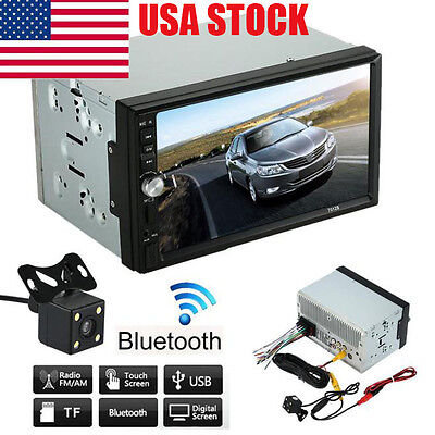 Touch Screen Car Stereo MP5 MP3 Player Radio Bluetooth USB AUX+Parking Camera C