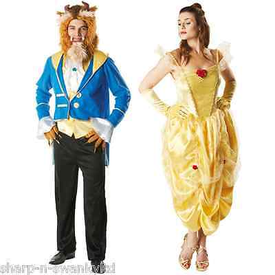 Mens Ladies Couples Disney Beauty AND the Beast Fancy Dress Costumes Outfits