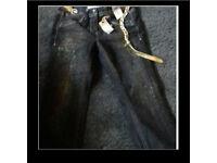 Ladies NEXT glitter jeans size 12R new & unworn