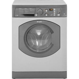 Washer Dryer Washing Machine Hotpoint WDF740G Aquarius+ Free Standing 7kg 1400 Spin in Graphite