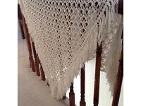 Authentic Hand crochet shawl/throw