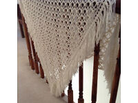 Hand crochet shawl/throw