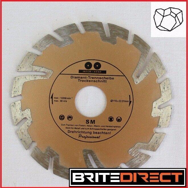 Inter-Kert Diamond deep cutting discs 115mm for stone concrete clinker granite building Best Price