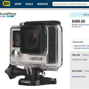 BRAND NEW GO PRO 4 SILVER ONLY 399$ CALL NOW 514-463-0026