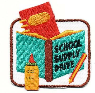 Girls School Badge - Girl Boy Cub SCHOOL SUPPLY DRIVE donation Fun Patches Crests Badges SCOUT GUIDE