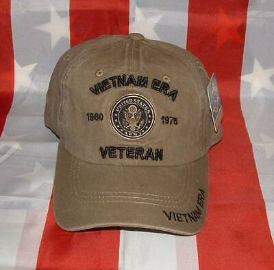 US Army Vietnam Era Relaxed Fit 3D Embroidered Military Licensed Ball Cap/Hat.