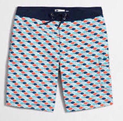 J.Crew Fish printed swim short item G3099 Swim Trunks Board Shorts Size 38