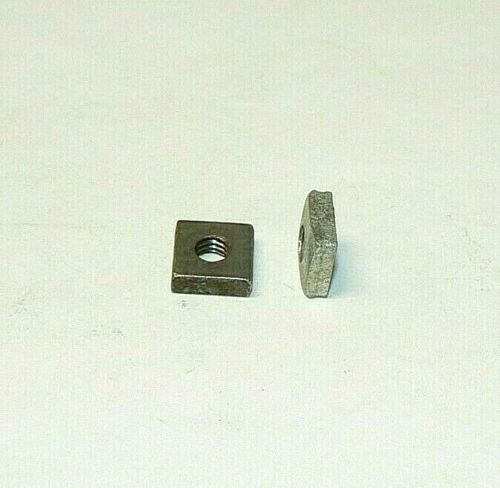 12/24 SQUARE NUTS - ZINC PLATED - LOT OF 200 PCS.