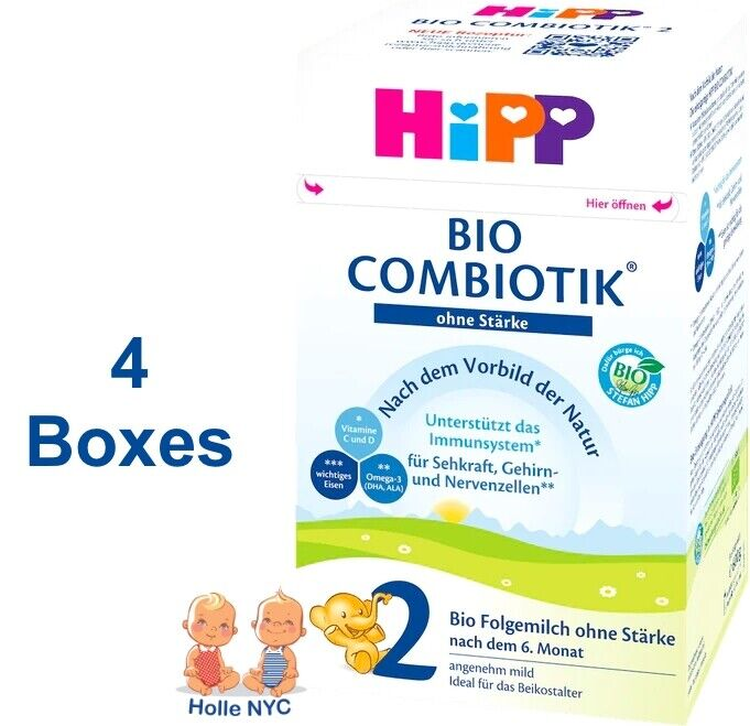 HiPP Stage 2 No Starch Bio Combiotic Infant Formula 4 Boxes 600g Free Shipping