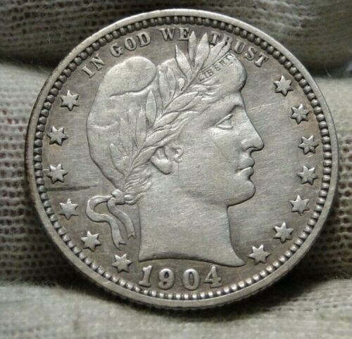 1904-O Barber Quarter 25 Cents. Semi-Key Date, Nice Coin (9435)