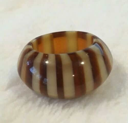 Lucite Butterscotch Ring Size 6