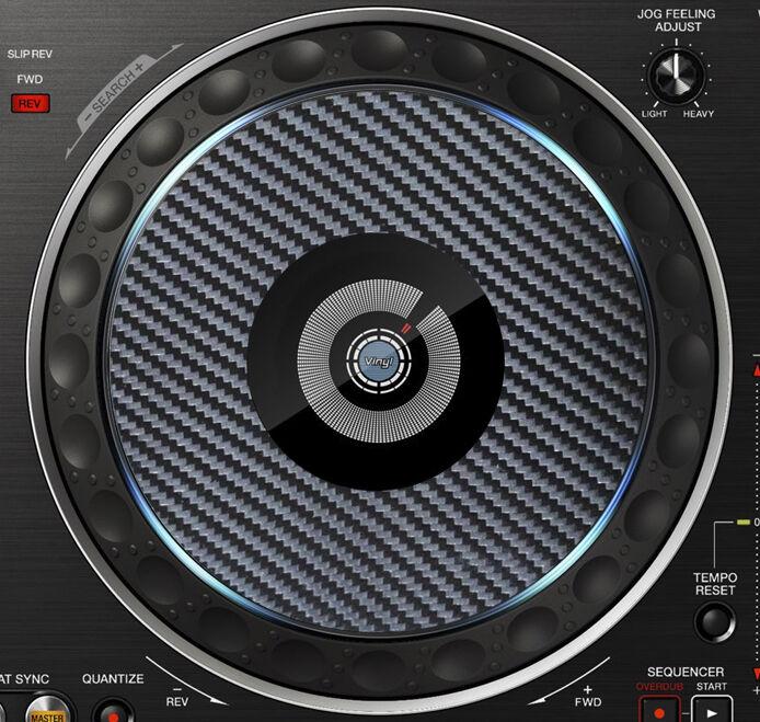 SLIPMAT GRAPHICS PIONEER PRO DJ CARBON FIBRE DDJ-RX  DDJ RX JOG STICKERS CDJ